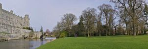 Warwick castle panorama no1 by maximusmountain