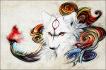 Okami - Cherry Blossom Storm by WhiteSpiritWolf