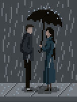 Meeting in the Rain by zacharyknoles