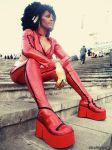 Misty Knight sits in the Light by AfroNinjaX