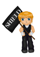 Chibi Dean Ambrose colored by Fallonkyra
