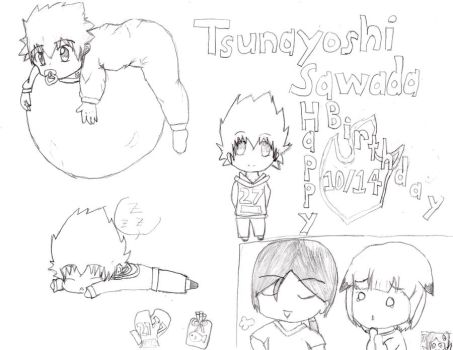 Happy Birthday Tsuna~ by digibrowser1
