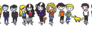 The House of Night Gang Chibis by Xxvampire-kitsunexX