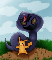 Arbok's snack by Chocobo-trainer