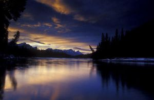 Bow river sunset by vindego