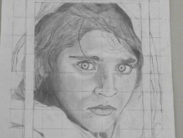 Afghan Girl Unfinished by ModemUlrich