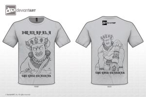 Singosari Dwarapala in Grey T-shirt by extremist52