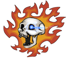 Flamingskull by DarkEros