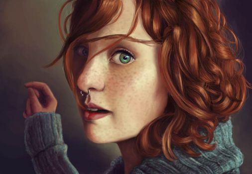 Red hair by Patricia-Crvl