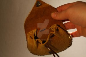 Leaf Coin Pouch Drawstring 4 by Gwend-O-Ithilien