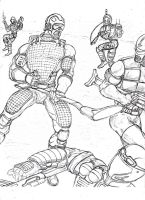 Gi Joe Tripwire and Vipers by mccoymao