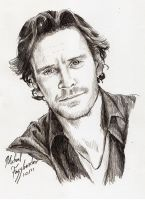 Sketch - Michael Fassbender by tankgirly