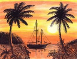Sailboat Silhouette by Jenileigh
