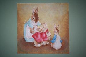 Beatrix Potter Wall Mural 2 by Anvikit