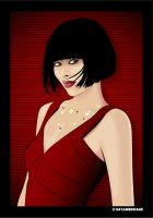 woman in red by Satansgoalie