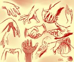 Hand sketches by Silvercresent11