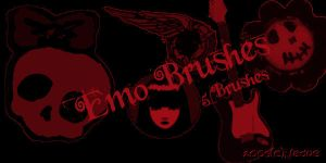 Emo Brush Set by nadueLICIOUS