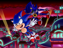 Sonic CD - Face Off by Aviarei