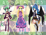 Adoptables batch #1 - #2 LEFT! (paypal) by Myonadopts