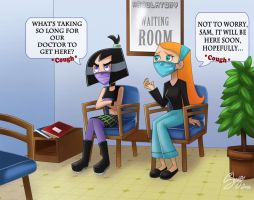 Sam and Jazz at the hospital by Juliefan21