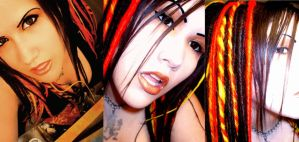 Krissys Fire Dreads Installed by miss-candi