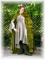 Elven Hunting Gown + Cloak II by Liquidfire3