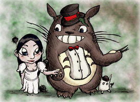 Delta with Totoro by RedFieldsOfNone