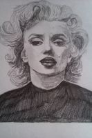 Marilyn Monroe - finished by JustSomeScribbles