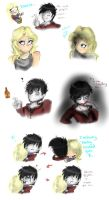 Warm Bodies Sketches. by LilRedGummie