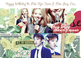 Cover Pack HPBD to Kim Hyoyeon and Kim Jongdae by Luhye