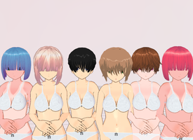 Bangs covering eyes pack by amiamy111