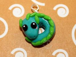 Kawaii Teal Dragon New by KBelleC