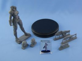 1/8 FemShep garage kit is ready - details view by Michael-XIII