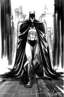 Sketch::Batman by KharyRandolph