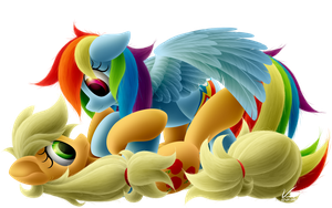 AppleJack and Rainbow Dash by SymbianL