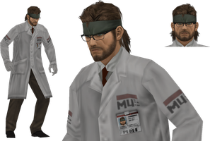 Naked Snake SCIENTIST by sidneymadmax