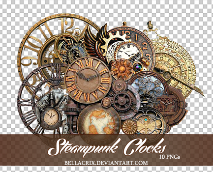 SteampunkClocks by Bellacrix
