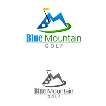 Blue Mountain Golf by logotypes-club