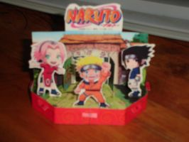Naruto diorama papercraft. UPDATED WITH NEW LINK by chrono-fox