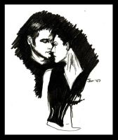 Farscape Sketch - Aeryn-John by jeminabox