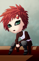 Gaara Sitting by talachan