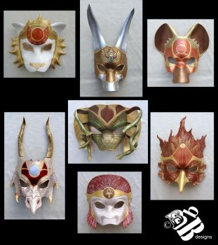 The Gnostic Eden Leather Masks by b3designsllc