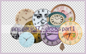 PNG PACK 17 - CLOCKS PART 1 by ChantiiGG