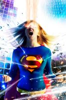 Supergirl in Action Redux by artifice22