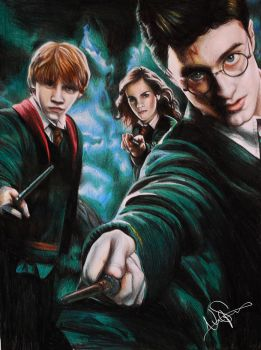 Harry Potter Coloured Pencil Drawing by NinaStrieder