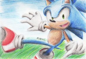 Sonic Pencil Color Practice by MSN1412