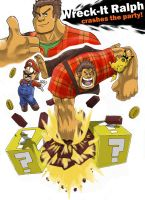 Smash Bros. Contenders- Wreck-It Ralph by GarthTheDestroyer