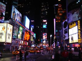 times square, nyc by scullylam