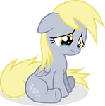 Sad Filly Derpy - Vector by Agamnentzar