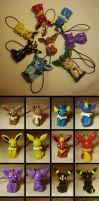 Eeveelution Keychains by Sara121089